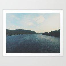 Blue Scenery Art Print