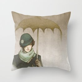 Winter Rains Throw Pillow