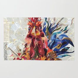Righteous rooster Rug