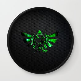 Zelda Shield Triforce Wall Clock