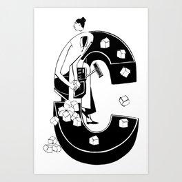 Cashier Art Print