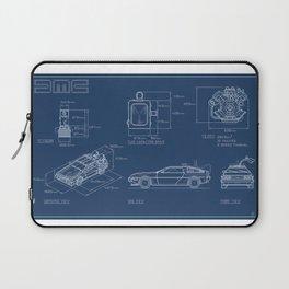 DMC DeLorean Blueprint Laptop Sleeve