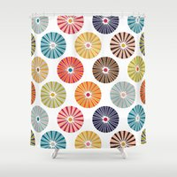 carousel Shower Curtains featuring carousel by Sharon Turner