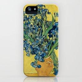 Vincent Van Gogh - Irises in Yellow Vase iPhone Case