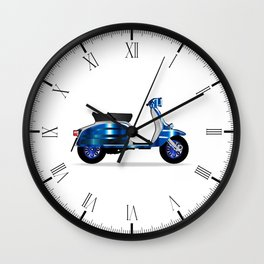 60s Motor Scooter Wall Clock