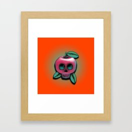 Cute Skull Apple Framed Art Print