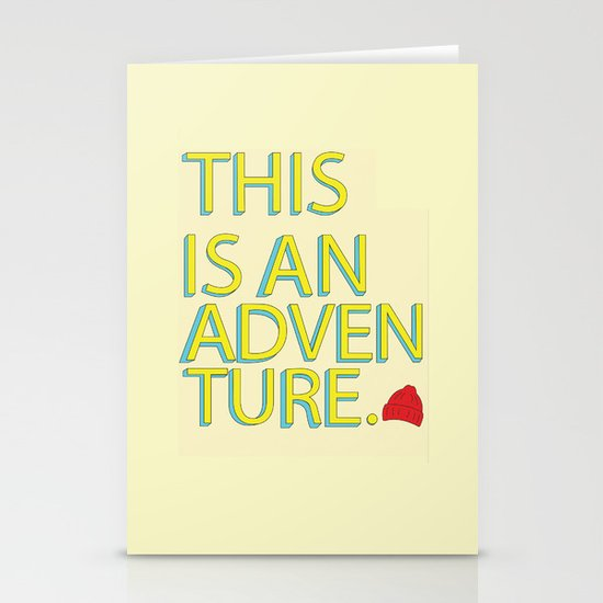This Is An Adventure Stationery Cards