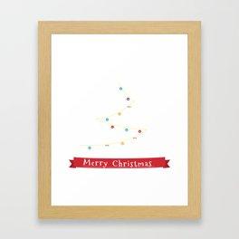 Bernese Mountain Dog Christmas Tree Framed Art Print