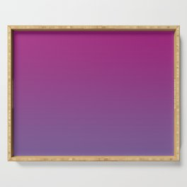 Pantone Chive Blossom Purple 18-3634 and Vivacious Red 19-2045 Ombre Gradient Blend Serving Tray