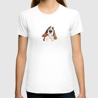 the hound T-shirts featuring Basset hound by Heathercook