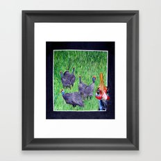 Oi them's my girls, 'ands Orf! Framed Art Print