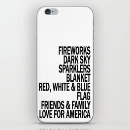 Components of a Fantastic 4th of July - Happy Independence Day! iPhone Skin