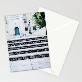 Steps of Gods (black) Stationery Cards