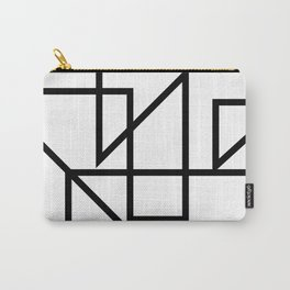 Black & White Minimal Design Carry-All Pouch