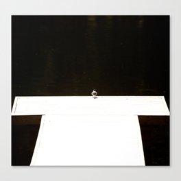 Alone - songbird on the pier #decor #society6 #homedecor Canvas Print