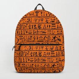 Egyptian Hieroglyphics // Orange Backpack