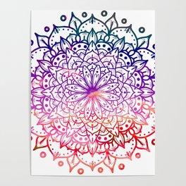 INTENSE SUNSET MANDALA Poster