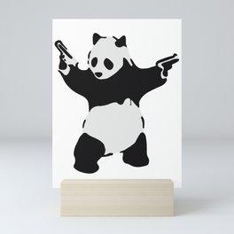 Banksy Pandamonium Armed Panda Artwork, Pandemonium Street Art, Design For Posters, Prints, Tshirts Mini Art Print