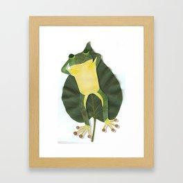Lazy frog. Framed Art Print
