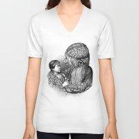akira V-neck T-shirts featuring Akira by DIVIDUS