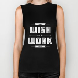 Lab No. 4 - Work for it Motivational, Inspirational Quotes Poster Biker Tank