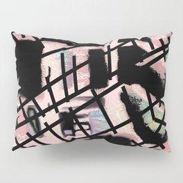 Black Railways Pillow Sham