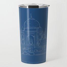 Blue Taj Mahal Drawing Travel Mug