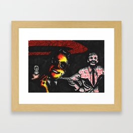 PETER SELLERS AND KENNETH WILLIAMS Framed Art Print