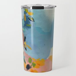 garden with sea view and olive tree Travel Mug