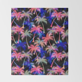 Falling Palms - Nightlight Throw Blanket