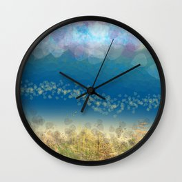 Abstract Seascape 02 wc Wall Clock