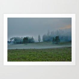 God's Pasture - Wilderness Ranch Land Art Print