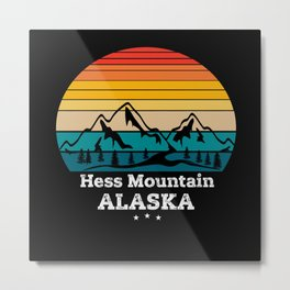 Hess Mountain Alaska Metal Print