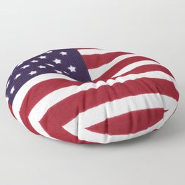 "Stars & Stripes flag, painterly ""old glory"" Floor Pillow"