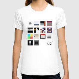 Minimalist U2's History - White T-shirt