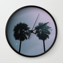 Twin Palm Trees Wall Clock