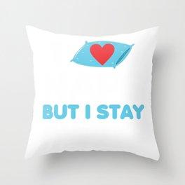 I Love Naps But I Stay awake Throw Pillow