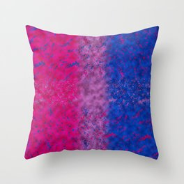With Bi Pride Throw Pillow