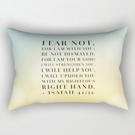Isaiah 41:10 Bible Quote Rectangular Pillow