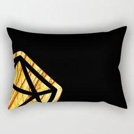 DnD d20 scratched yellow ambar Rectangular Pillow