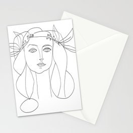Picasso Line Art - Woman's Head Stationery Cards