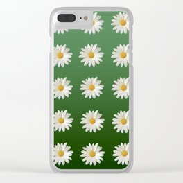 Daisies (green background) Clear iPhone Case