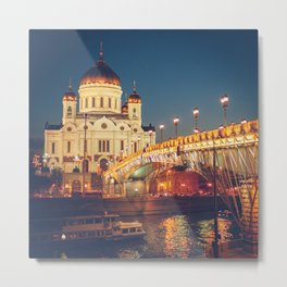 Cathedral of Christ the Savior in Moscow, Russia Metal Print