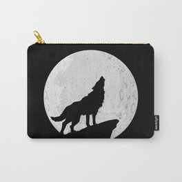 Wolf Howling To the Moon Carry-All Pouch