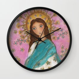 Immaculate Conception with Angels Wall Clock