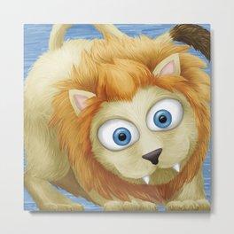 Cute Lion Metal Print