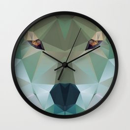 Wolf Crystallize 01 Wall Clock