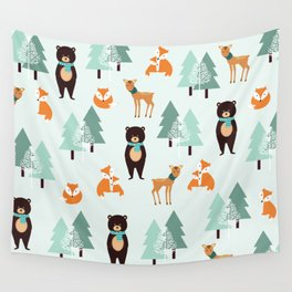 Animals in the winter - pattern #society6 Wall Tapestry