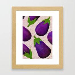 Eggplant Fun Framed Art Print
