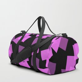 Pink Confetti Pops on Black Duffle Bag